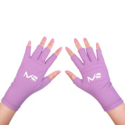 MelodySusie UV Shield Glove Anti UV Glove for Gel Manicures with UV/LED Lamps