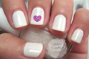 Volleyball Heart Pink Purple Nail Art Designs Decals