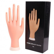 Adealink Flexible Prosthetic Hand Model Silicone Nail Art Training Display Personal Salon Manicure Practise Tools