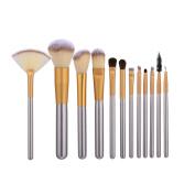 Mezerdoo Makeup Brushes 12pcs Classic Soft Synthetic Professional Cosmetic Foundation Powder Blush Eyeliner Brush