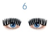 Odeer 2017 NEW Ultra-thin 0.4mm Magnetic Eye Lashes 3D Reusable False Magnet Eyelashes Extension Black