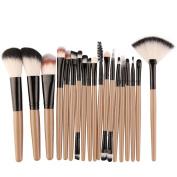 Cosmetic Brushes, CieKen 18PCS Makeup Brush Set tools Make-up Toiletry Kit Wool Make Up Brush Set (green)