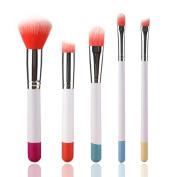 Makeup Brush Set, CieKen Multifunctional Super Soft 5PC Colourful Professional Cosmetic Eyebrow Eyeshadow Brush Concealer Brush Makeup Beauty Tools