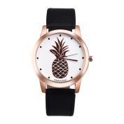 Fashion Watches ,PAPHITAK Womens Men Pineapple Faux Leather Analogue Quartz Watch