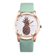 Fashion Watches ,PAPHITAK Womens Men Pineapple Faux Leather Analogue Quartz Watch