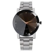 Fashion Watches ,Fashion Man Women Crystal Stainless Steel Analogue Quartz Wrist Watch