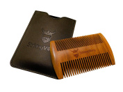 Striking Viking Wooden Beard Comb & Case - Fine & Coarse Teeth From Striking Viking - Anti-Static And Hypoallergenic Wood Pocket Comb For Beards & Moustaches
