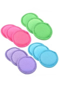 Face Scrubber Pads 3 Random Microfiber Facial Cleaner Beauty Wash New