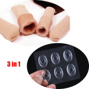 3in1 Silica Gel Foot Corn Blisters care Toe Tube Relief Foot Bunion Pain Toe Finger Protector Caps Soft Cushion Calluse