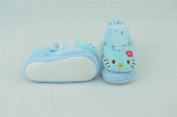 Blue Baby Booties Shoes Infant Soft Comfortable Gift for New-born Size 13