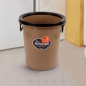Simple creative kitchen bathroom living room plastic with pressure circle trash can