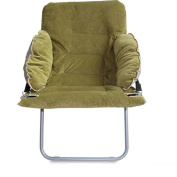 Folding Deluxe Lounger Chair Single Sofa Chair Bedroom Afternoon Chair Leisure Home Backrest Chair Simple Complete Removable,Green