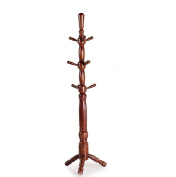 ZJM- Wood Clothes Tree Simple Hatstand Coatrack Hat Rack Triangle Base 190cm
