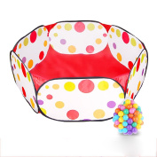 Kids Ball Pit Ball Tent Toddler Ball Pit with Red Zippered Storage Bag for Toddlers Pets