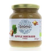 Biona | Apple & Rhubarb Puree | 3 x 360g