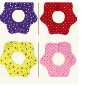 DAYNECETY 2Pcs X Kids Baby Feeding Dribble Bibs Boys Girls Drool Bibs Nursing Cover Neckerchief Apron Round Burp 360 Degree Adjustable Feeding Dribble Bib Cotton Flower Star Apron For Infant Toddler