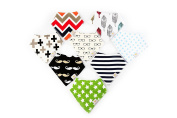 Pack B Premium Bandana Dribble Drool Baby Toddler Bibs / By Ever Kids Super Absorbent For Ultimate Comfort Cotton 8 Pack Stylish Modern Unisex Design Great Baby Shower Gift Fantastic Quality Perfect For Teething Feeding Newborn And Toddler