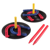 Rubber Horseshoes Game Set for Outdoor and Indoor Games - Perfect for Tailgating, Camping, Backyard and Inside Fun for Adults and Kids by Hey! Play!