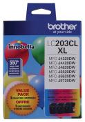 Brother Printer LC2033PKS Multi Pack Ink Cartridge, Cyan/Magenta/Yellow