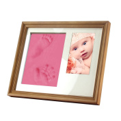 Gembaby Charming Baby Handprint & Footprint Desktop Picture Frame Package, Non Toxic and Child Safe Clay, Unique Gift Idea and Keepsake