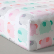 Fitted Crib Sheet Elephant Parade - Cloud Island - Pink