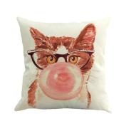 Botrong Pillowcases, European Home Decor Cotton Linen Cushion Cover Throw Pillow Case 45cm ×45cm