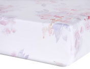 Oilo Prim Jersey Crib Sheet, Blush