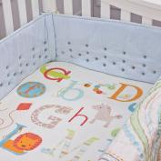 Nurture Imagination Blue Corduroy Airflow Crib Safety Bumper