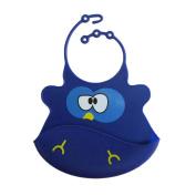 Aurorax Cute Kid Infant Bibs Baby Soft Silicone Bib Waterproof Saliva Dripping Bibs