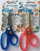 Westcott (TM) Wild Ones 13cm Blunt-Tipped Glitter Scissors,Set of Two