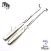 "DDP ELEVATORS DOYEN RIB RIGHT AND LEFT 7"" CURVED BLADE 3.2CM STAINLESS STEEL 2 PCS INSTRUMENTS"
