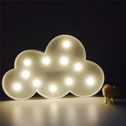 Missley Lovely Cloud LED Romantic Atmosphere LED Night Light For Room Party