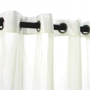 Commonwealth Outdoor Decor Escape 210cm Grommet Curtain Panel in Ivory
