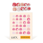 Bong Bong Non-Toxic Nail Art Stickers For Children 3-7yo – Colourful, Cute, Girlish, Super Hero, Glitter – Long Lasting (30 Stickers) - Pink Dot