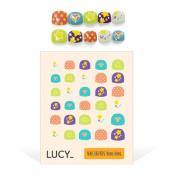 Bong Bong Non-Toxic Nail Art Stickers For Children 3-7yo – Colourful, Cute, Girlish, Super Hero, Glitter – Long Lasting (30 Stickers) - Shiny Star
