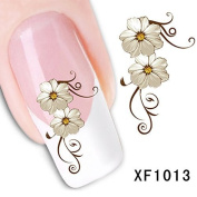 DALAI 1Pc Brilliant Flower Nail Art Stickers Decal Water Transfer Manicure Decoration