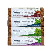 Himalaya Fluoride Free Natural Toothpaste Variety Pack (4 Pack) – Mint, Cinnamon, Peppermint and Spearmint, 160ml/150gm each