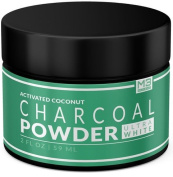 Premium All Natural Charcoal Teeth Whitening, Coconut Activated Charcoal and Bentonite Clay Formula. Use Like A Whitening Toothpaste. Extra Strength Bright Smile