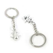 50 Pieces Keychain Keyring Door Car Key Chain Ring Tag Charms Supply Q4QL5U Aeroplane Aircraft