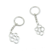 1 Pieces Keychain Keyring Door Car Key Chain Ring Tag Charms Supply B3RM4M Ear Drop Connector
