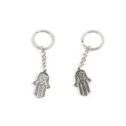 2 Pieces Keychain Keyring Door Car Key Chain Ring Tag Charms Supply I8SF4F Buddha Palm
