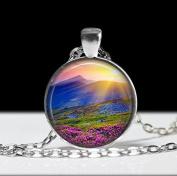 Mountain Necklace, Mountain Jewellery, Outdoors Gift, Mountain Photo Pendant