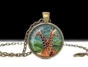 Giraffe Necklace Jewellery ,Art Pendant, Charm Giraffe Keychain Love Necklace