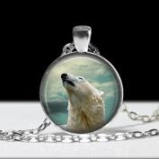 Polar Bear Pendant, Polar Bear Necklace, Art Jewellery, Animal Necklace Bear Jewellery
