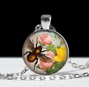 Bee Jewellery, Bumble Bee Pendant, Art Inscect Jewellery Bee Charm