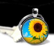 Sunfllower Jewellery, Sunflower Pendant , Rose Pendant Charm Sunflower Keychain