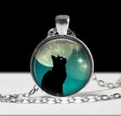 Cat Necklace, Cat Jewellery Necklace,Art Pendant ,Charm Cat Pendant, Black Cat Charm