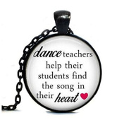 Dance Teacher Gift, Round Dance Text Tag Choker Tag, Ballet Teacher GIft, Dance Recital Gift