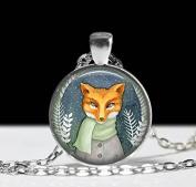 Fox Necklace Fox Pendant ,Art Jewellery Animal Necklace