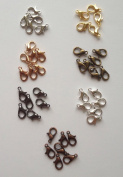 140 pcs Lobster Clasps Claw Jewellery Fastener Hook Gold Silver Bronze Rose